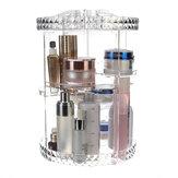 Rotação de 360 Graus de Armazenamento de Cosméticos Acrílicos Transparentes Caixa Moda Rotação Multi-função de Desktop Destacável Maquiagem Organizador de Beleza