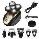 USB 5 IN 1 4D Rotary Electric Shaver Rechargeable Bald Head Shaver Beard Trimmer