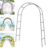 Arco De Ferro De Metal Maneira Montar Porta Festa De Casamento Nupcial Prom Jardim Decorações Florais Fontes Do Partido