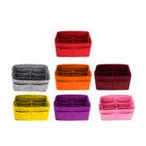 7 farve Håndtaske Organizer Bag Purse Filt Fabric Makeup Bag
