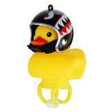 Yellow Duck Helmet Bicycle Bell Light Broken Wind Duck Toys Riding Cycling Horn