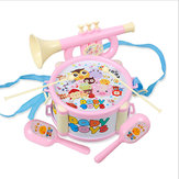 Baby Double-Sided Trumpet Sand Hammer Hand Drums Orff Musical Instruments Educational Toys