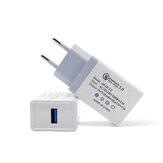 Bakeey QC3.018W急速充電USB充電アダプターEUプラグOnePlus7 Pro 5T UMIDIGI Z2 HUAWEI P30 MI8MI9 S10 S10+