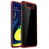 Bakeey 3 in 1 Shockproof Plating Bumper Transparent Soft TPU Protective Case for Samsung Galaxy A80 2019