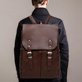 Men Large Capacity Multifunction Laptop Flap Backpack