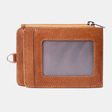 Men Genuine Leather Casual Anti-Theft RFID Blocking Wallet