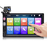 7023B 7 Pollici Autoradio 2 DIN Radio HD Touch Screen Multimedia Lettore MP5 FM bluetooth TF USB con posteriore fotografica