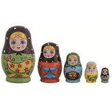 5 capas rusas pintadas a mano de madera Matryoshka Nesting Toys Stacking Doll Gifts