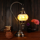 Handmade Swan Lamp Vintage Glass Turkish Style Bedside Home Table Night Light