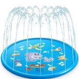 100 cm al aire libre juego de salpicaduras de agua inflable Piscina jugando aspersor estera patio familia divertido niños juguetes