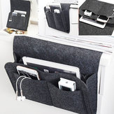 32x20x10cm Felt Bedside Sofa Storage Bag Remote Book Phone Hanging Parts Storage Box