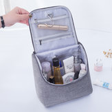 حقيبة مستحضرات التجميل السفر المحمولة مع السنانير منظم مستحضرات التجميل ذات سعة كبيرة