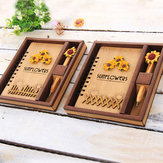Creative Wooden Cover Notebook Vintage Notepad Journal Diary Office School Supplies