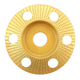 Drillpro 110mm Tungsten Carbide See Through Wood Shaping Disc Bevel Carving Disc with Hole 22mm Bore Sanding Grinder Wheel for 115 125 Angle Grinder