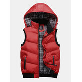 Detachable Hooded Winter Thickened Warm Casual Vest