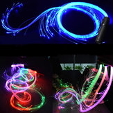 LED Fiber Optic Whip Strip Light 360° RGB Multi-Mode Flashlight Show Music Dance Festival Battery Operated