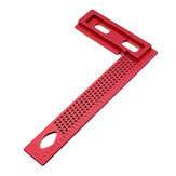 Aluminum Alloy 200mm Woodworking Square Hole Positioning Metric Measuring Ruler Carpenter Scriber