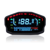 12V 14000RMP Moto Digital LCD Velocímetro Odómetro Temperatura del agua Oil Calibre 2/4 cilindros Impermeable
