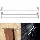 Aluminium Doppel Einzelregal Wand Handtuchhalter Bad Rack