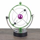 1 Stück Perpetual Motion Instrument Sphärische Pendel Orbital Rotierenden Ornament Spielzeug Desktop Dekorationen für Home Office Geburtstagsgeschenke