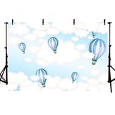5x3FT 7x5FT 9x6FT Sky White Cloud Balloon Photography Backdrop Background Studio Prop - 0.9x1.5m