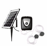 Solar Powered Panel Air Oxygenator Pond Fish Air Pump Aerator Fish Tank Pond