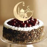 Eid Mubarak Happy Ramadan Cake Topper Insert Islam islamic Glitter Hajj Decor Cake Decorating Tools Kuchendeckel Gateau Kage Decorations