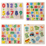 Uppercase Lowercase ABC Early Learning Toys Alphabet Animal Number Puzzle Preschool Educucational Gifts