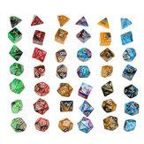 42Pcs Dices Poliédricos Acrílicos Definir Papel Jogo de Dados Gadget para Dungeons Dragons D20 D12 D10 D8 D6 D4 Jogos Presente