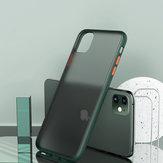 Bakeey Shockproof Anti-Fingerprint Ultradünne mattierte Soft Silicon Edge + durchsichtige PC-Schutzhülle für das iPhone 11 6.1 Zoll