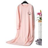 Camisola de algodão de manga comprida com retalhos de loungewear