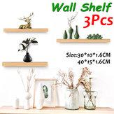 3 PCS Prateleira de parede Rack de madeira Planta Mostrar plataforma para sala de estar