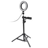Dimmbare LED Studio Kamera Ring Licht Makeup Fotolampe Selfie Stand USB Stecker Stativ mit Telefonhalter für Youtube Video
