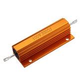 5pcs RX24 100W 300R 300RJ Metal Aluminum Case High Power Resistor Golden Metal Shell Case Heatsink Resistance Resistor