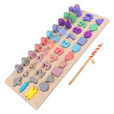 Kids Children Wooden Numbers Math Puzzle Board for Toddlers Educational Early Learning Toys