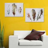 2шт акварель перо печать на холсте картины довольно стены искусства картина домашний подарок