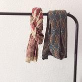 Bufanda de lana estilo vintage Bufanda de punto caliente