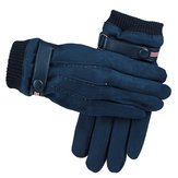 Mens Winter Suede Gloves Touch Screen Windproof Thermal Warm Outdoor Sport Skiing Gloves