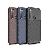 For Xiaomi Redmi Note 8 Case Bakeey Luxury Carbon Fiber Shockproof Silicone Protective Case