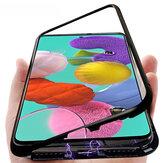 Bakeey Metal Магнитный Адсорбционный Флип Закаленное Стекло Защитное Чехол для Samsung Galaxy A51 2019
