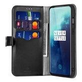 Pour OnePlus 7T Pro Case Bakeey Flip avec support pour fentes pour cartes PU Leather Full Cover Shockproof Soft Protective Case