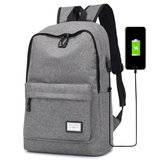 Armor College Wind Backpack USB Charging Outdoor Travel Laptop Bag