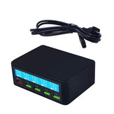 5V/10A LCD Display USB Charger Adapter Quick Charge 3.0 Multi Port Mobile Phone Rapid Charger USB Socket