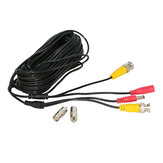 Hiseeu 59ft 18m BNC+DC 2-in-1 12V CCTV Cable for Analog AHD CVI CCTV Camera DVR Kit Video Power Cable