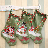 Christmas Socks Gift Bag Christmas Decorations Large Printed Christmas Socks Gifts Candy Socks Hanging Ornaments