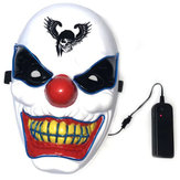 Halloween Clown LED Glow Mask Festival liefert Requisiten Scary El Lighting Mask für die Dekoration