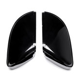 Pair Front Wing Side Car Mirror Cover Housing Cap Black For VW Golf MK6 Touran 09-15