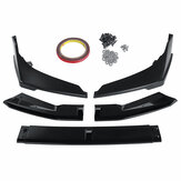 5PCS Front Bumper Protector Lip Body Kit Spoiler Splitter For Honda Civic 2019-2020 Sedan