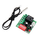 10pcs Digital Temperature Control Switch Adjustable Thermostat Temperature Switch 12V Cooling Controller W1701