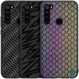 Para Xiaomi Redmi Note 8 Caso NILLKIN Luxury Lustre Twinkle Shield Tejido Poliéster + Cuero PU Protector de espalda dura Caso No original
